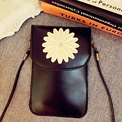 Sunflower Design PU Leather Pouch with A Rope for iPhone 6S/6 Plus
