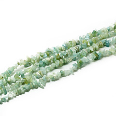 "Beadia Aquamarine Stone Beads 5-8mm Irregular Shape DIY Loose Beads Fit Necklace Bracelet Jewelry 34""/Str"