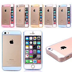 4 Inch Glitter Pattern Thin Silicone Transparent Case Cover for iPhone 5/5S(Assorted Colors)