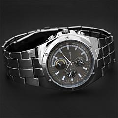 nye mands høj kvalitet stål bælte quartz ur