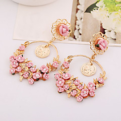 Alloy/Ceramic Earring Drop Earrings Wedding/Party/Daily/Casual 2pcs