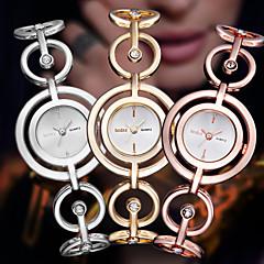 Femme Montre Habillée Quartz Alliage Bande Bracelet Argent Doré Or Rose Marque