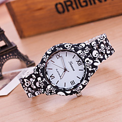 Women's New Fashion Geneva Skull Patterns Printing Bracelet Watches Cool Watches Unique Watches
