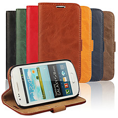 Bark Grain Genuine Leather Full Body Cover with Stand and Case for Samsung S3 Mini I8190N  (Assorted Colors)
