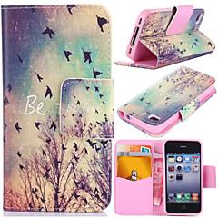 Syksyllä linnut kuvio kortti laukku täynnä kehon kotelo iPhone 4 / 4s
