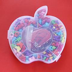 beadia perlas bricolaje color clasificado de acrílico y la forma en juguete de regalo caja de plástico para niños collar de la pulsera de