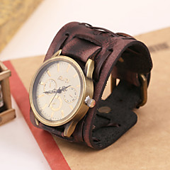 Men's watch jewelry accessories Vintage leather bracelet table  Leather bracelet table personality