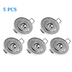 5 pcs MORSEN 3 W 1 High Power LED 200-300 LM Warm White Recessed Retrofit Dimmable Recessed Lights / Ceiling Lights / Panel LightsAC