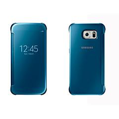 Na Samsung Galaxy Etui Etui Pokrowce Z okienkiem Auto uśpienie / włączenie Lustro Flip Futerał Kılıf Jeden kolor Twarde PC na SamsungS8