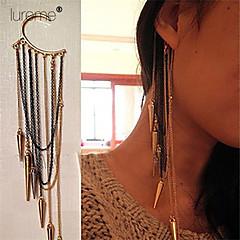 Lureme®Punk Style Tapered Multilayer Tassel Ear Hook Earrings