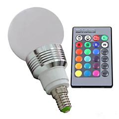 E14 3W RGB Led Bulb Light with Remote Controller (AC 100-220V) 400LM