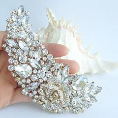 Wedding Accessories Wedding Deco Gold-tone Pearl Rhinestone Crystal Bridal Brooch Bridal Bouquet Bridal Jewelry