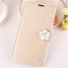 For iPhone 7 7 Plus 6s 6 Plus SE 5s 5 Case Rhinestone Case Full Body Case Solid Color Hard PU Leather