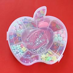 granos de acrílico en caja de plástico en forma de manzana de colores surtidos y la forma de regalo de los niños juguete perlas de
