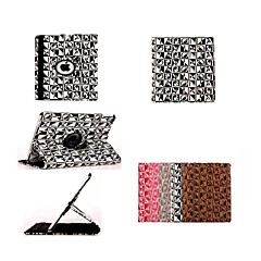 360 Degree Rotation Letter Pattern PU Leather Case with Stand for iPad 2/3/4(Assorted Colors)