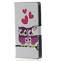 Mert LG tok Kártyatartó / Pénztárca / Állvánnyal / Flip Case Teljes védelem Case Bagoly Kemény Műbőr LG LG Leon / LG C40 H340N