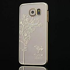 alto grau chapeamento diamante caso de telefone árvore para Samsung Galaxy S6 bordo (cores sortidas)