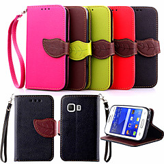 Mert Samsung Galaxy tok Kártyatartó / Állvánnyal / Flip Case Teljes védelem Case Egyszínű Műbőr Samsung Young 2