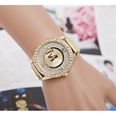 montres de quartz de montres pour femmes alliage Swiss Diamond dépoli intérieure montre en acier