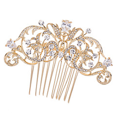 8cm Gold Gorgeous Hair Comb Tiara Wedding Bridal Jewelry for Party