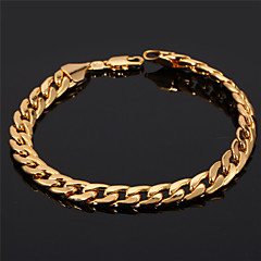 U7® Men's 18K Chunky Gold Filled Figaro Cuban Chain Bracelet 7MM 21CM Jewelry