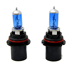 TIROL 2pcs Auto Headlight Bulbs Headlamp Bulbs Halogen 9007 12V 60/55W Super White 5000K