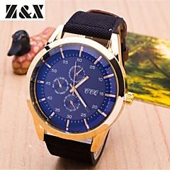 Men's Fashion Big Dial Business Quartz Analog Leather Band Sports Wrist Watch(Assorted Colors)