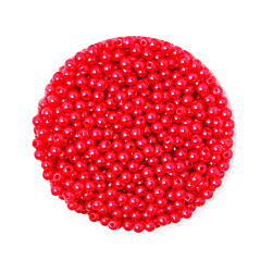 Beadia 58g(Approx 2000Pcs)  4mm Round ABS Pearl Beads Red Color Plastic Beads