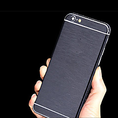 côté complet du corps + top + retour + bouton métallique autocollant autocollant mince pour iphone 6 (couleurs assorties)