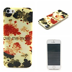 Safflower Pattern TPU Phone Case For iPhone 5/5S