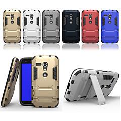 Mert Motorola tok Ütésálló / Állvánnyal Case Hátlap Case Páncél Kemény PC Motorola