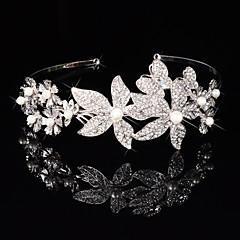 Γυναικείο Κορίτσι Λουλουδιών Ασήμι Στερλίνας Κράμα Headpiece-Γάμος Ειδική Περίσταση Κεφαλόδεσμοι Λουλούδια Coroane 1 Τεμάχιο