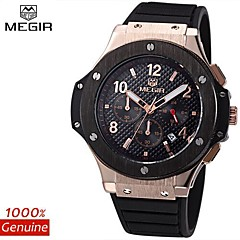 MEGIR®CHRONOGRAPH 24 Hours Waterproof Men's Sport Watch Silicone Luxury Watch Men Brand Army Watch (Assorted Colors)