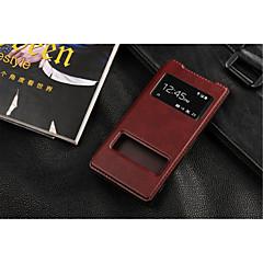 Varten Sony  kotelo / Xperia Z3 Tuella / Ikkunalla / Flip Etui Kokonaan peittävä Etui Yksivärinen Kova Tekonahka varten SonySony Xperia