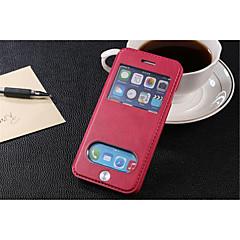 Käyttötarkoitus iPhone 8 iPhone 8 Plus iPhone 6 iPhone 6 Plus kotelot kuoret Korttikotelo Tuella Ikkunalla Flip Kokonaan peittävä Etui