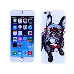 motif de chien de lunettes TPU et étui souple IMD pour iphone 5 / 5s