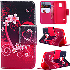 High Quality Painted Series Gardenia Flower PU+TPU Phone Case with Stand for Samsung Galaxy S5 Mini
