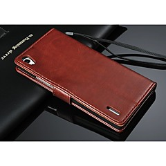 PU Leather Wallet Pattern Full Body Case with Card Holder for huawei P7 (Assorted Color)