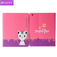 leiers ™ domi cat 2 pu + TPU leer ultra-dunne behuizing 3D-cartoon mooie cover met kaartslot staan voor ipad mini 1/2/3
