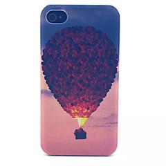 kuumailmapallo kuvio läpinäkyvä himmeä pc takakansi iPhone 4 / 4s