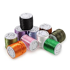 10PCS Rolls Mixed Color Round Nylon Satin Rattail Cord 3mm 4m