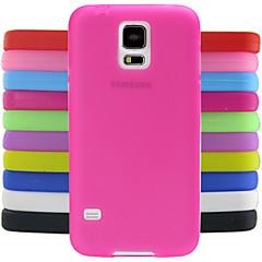 yksivärinen hyytelö silikonikotelo suunnittelu malli Samsung Galaxy S5 i9600