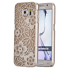 Magic Spider®Yellow Small Flowers Pattern Ultra Thin Transpareny Hard Back Case Cover for Samsung Galaxy S6