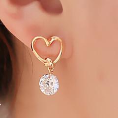 Kolczyki wiszące Klasyczny Serce Modny Stop Heart Shape Golden Biżuteria Na Impreza Codzienny Casual 1set