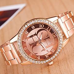 Zegarek damski zegarek ze stopu głównym diament kostium dama kwarcowy zegarek zegarki
