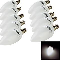 3W E14 Luzes de LED em Vela 10 SMD 2835 200 lm Branco Quente / Branco Frio Decorativa AC 220-240 V 10 pçs