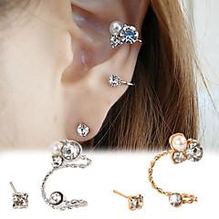 Shiny Crystal Ear Clip(Gold/Silver)(1Pr)
