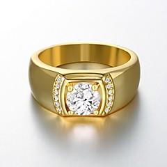 AAA Zirconium Drill 18 K Gold Plating High Quality Diamond Ring Men's Women's Jewelry