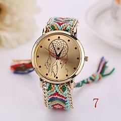 새로운 패션 석영 시계 짠 직물 골드 체인 팔찌는 여성 국가 스타일의 여성 시계 여성 손목 시계 시계