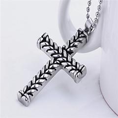 Classic Cross Titanium-Steel Pendant(Steel Color)(1Pc)